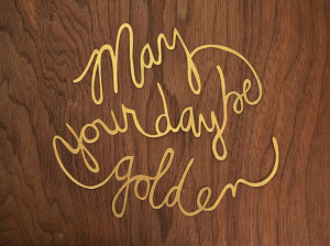 May Your Day Be Golden Papercut / Tussk