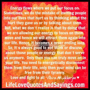 Energy flows ..