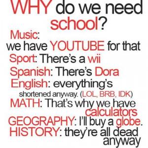 Why do we need school?