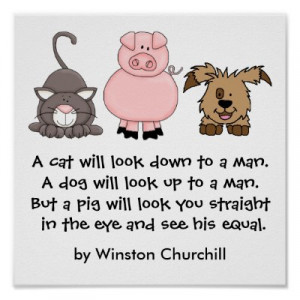 PIG Quote by Winston Churchill Posters by sharonrhea