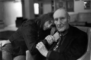 Patti Smith and William S. Burroughs, Photograph by Allen Ginsberg