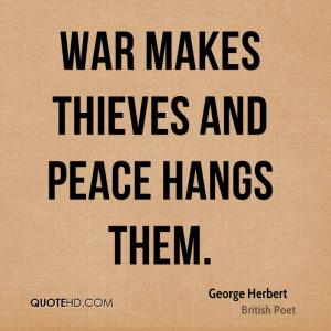 George Herbert War Quotes
