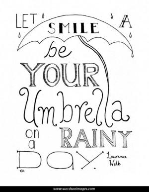 Rainy day quotes