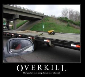 car-humor-funny-joke-road-street-drive-driver-truck-trailer-Overkill ...