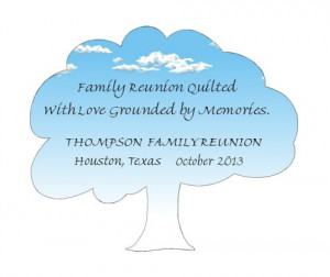 product description quote family reunion quilted with love grounded by ...