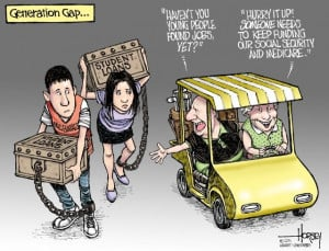Socialism for the old, raw capitalism for the young – that seems to ...