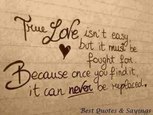 True love is worth fighting for....