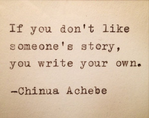 Chinua Achebe Quote Typed on Typewriter and Framed by farmnflea, $13 ...
