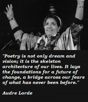Today is Audre Lorde's birthday!