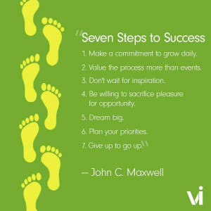 Seven Steps to a Success - John C. Maxwell