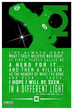 Hal Jordan quote