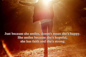 Yet I can rise with a smile on my face.