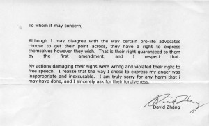 Sincere Business Apology Letter