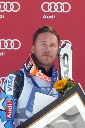 Bode Miller after winning the 2011 Downhill at Birds of Prey