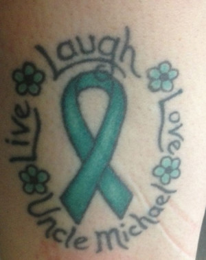 Liver Cancer Tattoo. RIP UNCLE MICHAEL!