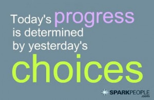Motivational Quote - Today's progress is determined by yesterday's ...