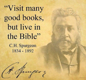 live in the Bible... Great quote!