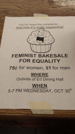 زیرش نوشته: قیمت برای مردان 1 دلار و ...