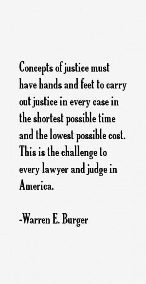Warren E. Burger Quotes & Sayings
