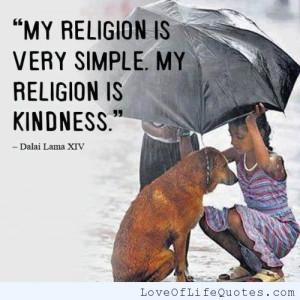 Dalai Lama XIV quote on religion