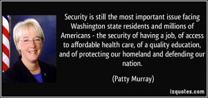 residents and millions of Americans - the security of having a job ...