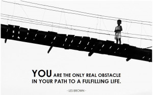 inspirational quote on Obstacle by Les Brown