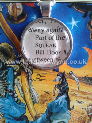 Terry Pratchett Death of Rats 'SQUEAK' Book Quote Necklace