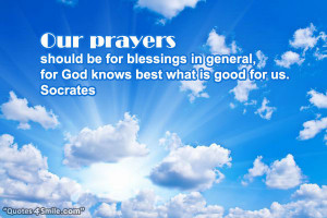 God Knows Best What is Good For Us