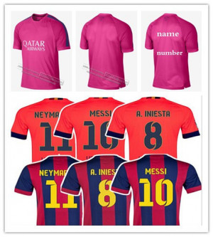 NEYMAR JR Jersey 2015 PIQUE I RAKITIC PUYOL XAVI Soccer Jersey MESSI