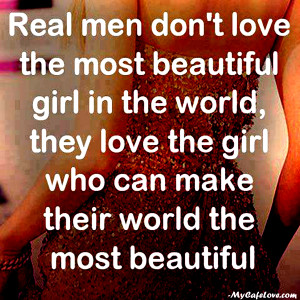 Real men ~ heart touching Quote