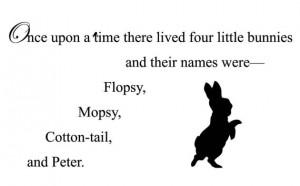 Beatrix Potter Quote Peter Rabbit: Adhesive Vinyl Letters, Wall ...