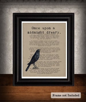 Never More Raven Edgar Allan Poe Art