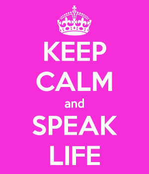 Speak Life, not Death! This Keep Calm quote is inspired by TobyMac's ...