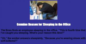 Funny Boss Jokes - The Boss finds an employee sleeping in the office