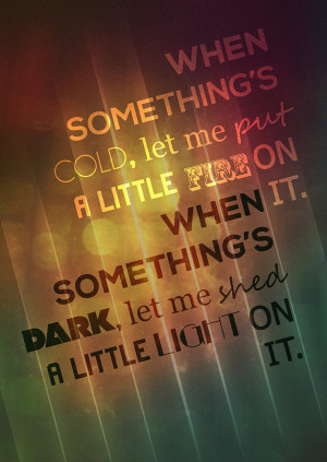 The fixer, Pearl Jam Music/quote. Poster