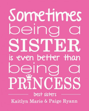 Sister personalized print/quote by perkypaper on Etsy, $8.00