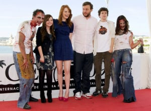 Hair Emma Stone Zombieland Outfit Premiere Photocall