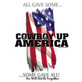 Cowboy America Flag Photo...