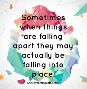 Related Pictures falling apart get back together nice quotes