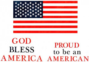American Flag and Sayings Home Decor Stencil