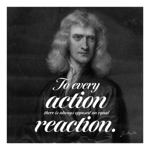 Home Isaac Newton Quote Canvas Art Print #4078