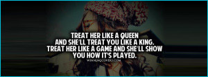 Gangsta Girl Quotes Tumblr How A Man Treats Woman picture