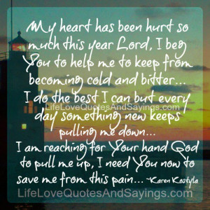 you keep hurting me quotes