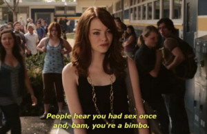 easy a, emma stone, kid cudi kayne west, quote, sex, text, typography