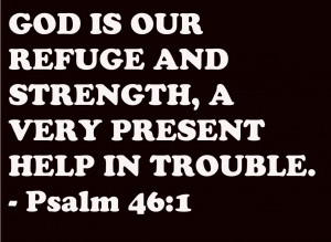 Bible Quote – God is Our refuge and Strength