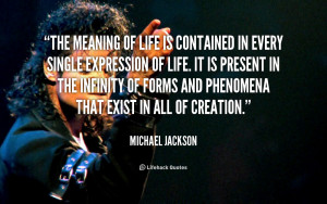 Michael Jackson Quotes On Life
