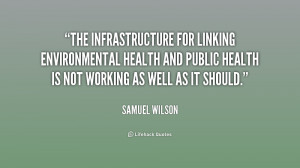 The infrastructure for linking environmental health and public health ...
