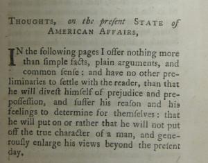 Common Sense, by Thomas Paine (1776)