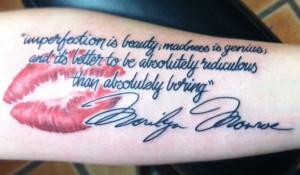 vQuote Monroe Tattoo
