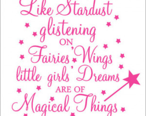 Stardust Vinyl Decal Fairy Quote Wa ll Decal Girls Nursery Bedroom ...
